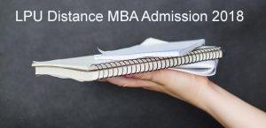 LPU Distance MBA admission 2018