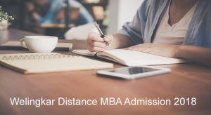 Welingkar Institute Distance MBA admission 2018