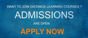Admission Enquiry For Distance Learning Courses