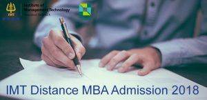 IMT Distance MBA admission 2018
