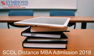 SCDL Distance MBA admission 2018