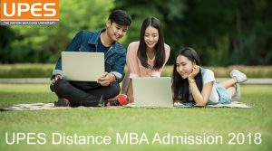 UPES Distance MBA admission 2018