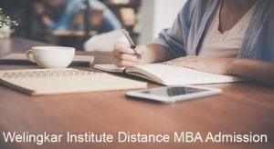 Welingkar Institute Distance MBA admission 2019