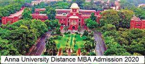 Anna University Distance MBA Admission