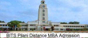 BITS Pilani Distance MBA Admission