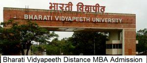 Bharati Vidyapeeth- SDE Distance MBA Admission