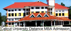 Calicut University Distance MBA Admission 2020