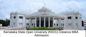 Karnataka State Open University (KSOU) Distance Education Admission
