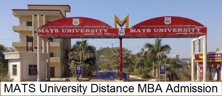MATS University Distance MBA Admission 2020