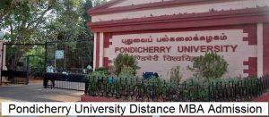 Pondicherry University Distance Education MBA Admission