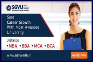 SGVU distance mba Admission 2020