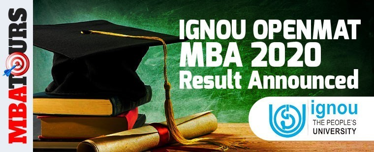 IGNOU OPENMAT MBA 2020 Result Announced