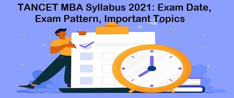 TANCET MBA Syllabus 2021