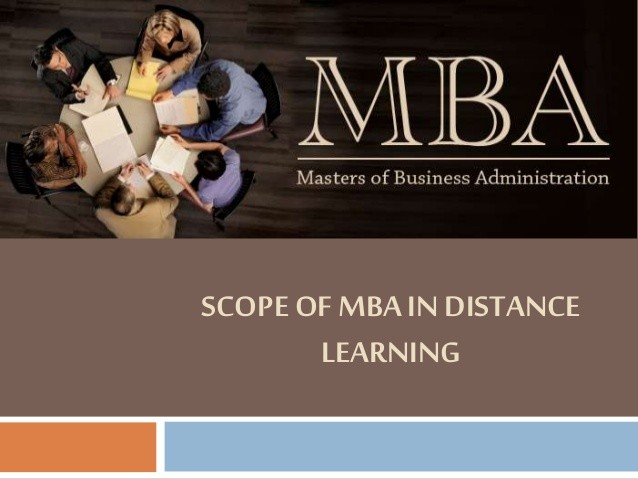 scope of Distance MBA
