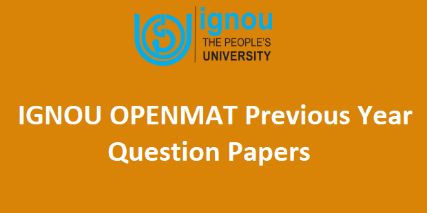 IGNOU OPENMAT Question Papers
